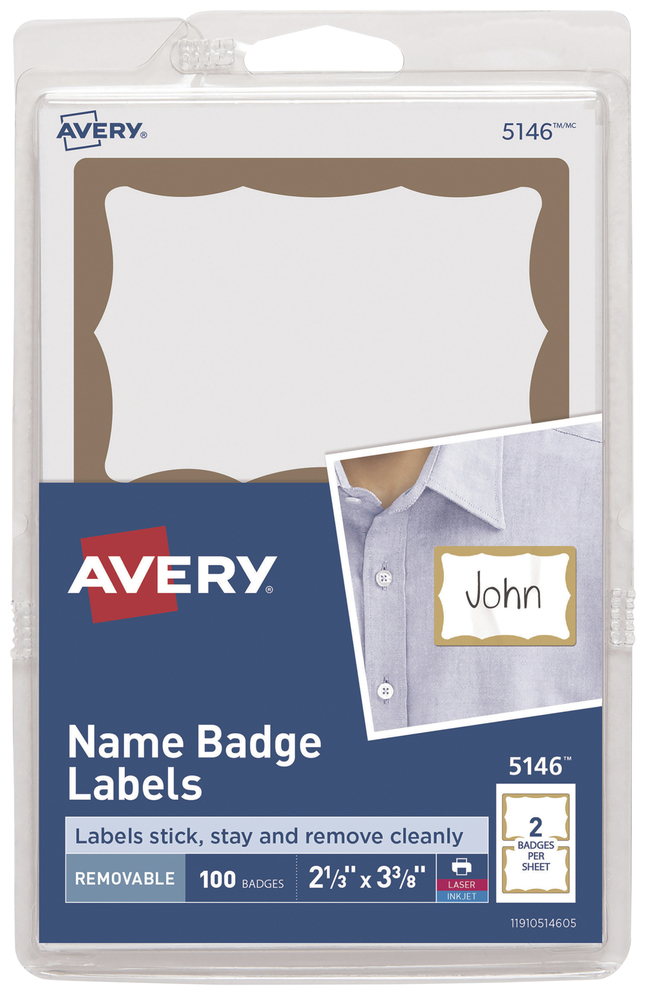 Name Badge Labels, Item Number 1054558