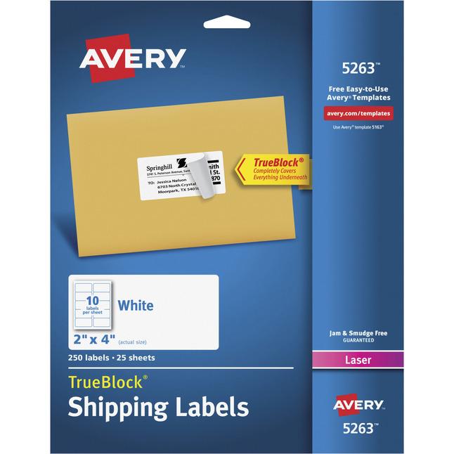 Address Labels, Item Number 1054580