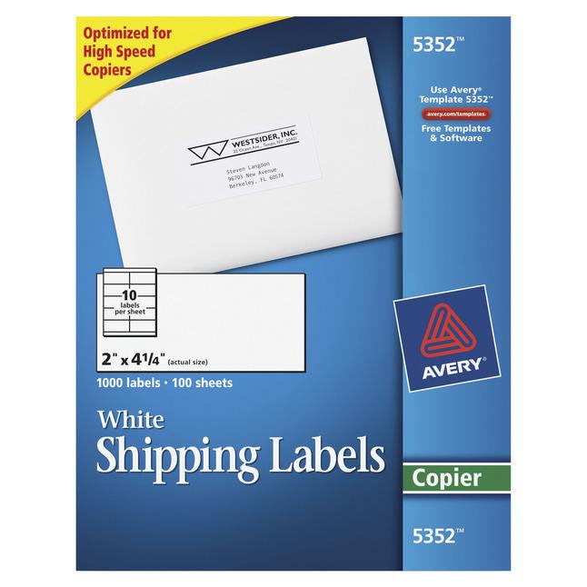 Address Labels, Item Number 1054608