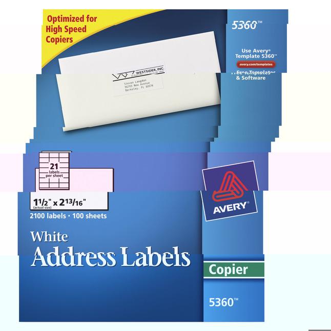 Address Labels, Item Number 1054613