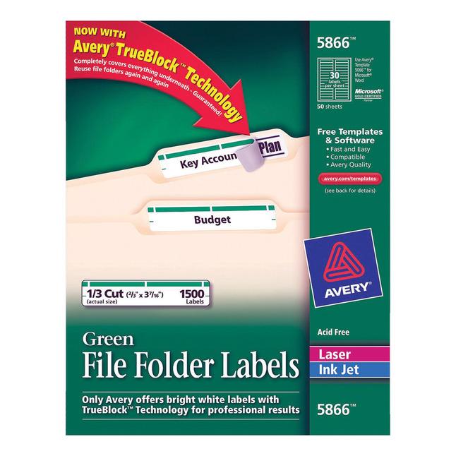 File Folder and File Cabinet Labels, Item Number 1054652