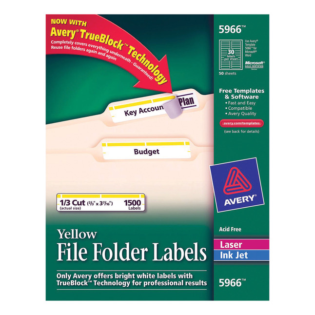 File Folder and File Cabinet Labels, Item Number 1054668