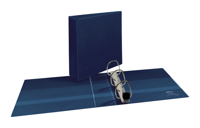 Avery Nonstick Heavy-Duty EZD Reference View 3 Navy Blue Binder 79803