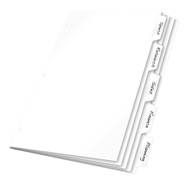 Tab Dividers, Item Number 1057124