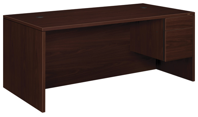 HON 10500 Office Desk, Mahogany, 72 W x 36 D x 29-1/2 H in
