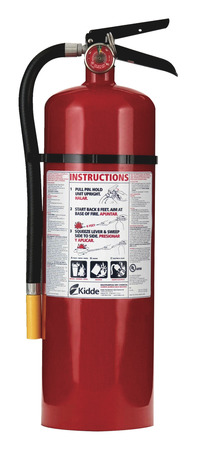 Kidde Pro 10 Rechargeable Fire Extinguisher, 10 lb, Red Item Number 1062461