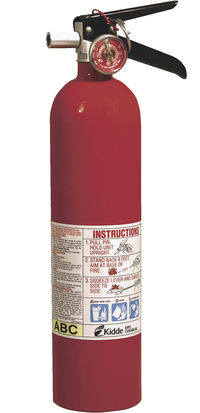 Kidde Pro 2.6 Rechargeable Fire Extinguisher, 2.6 lb, Red Item Number 1062463