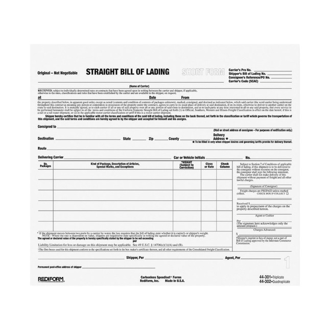 Delivery Forms and Receiving Forms, Item Number 1066713