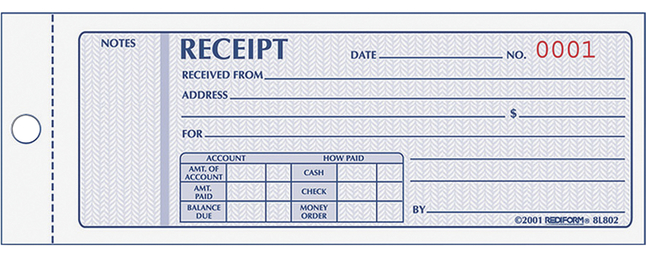 Receipts and Invoices and Statement Forms, Item Number 1066747
