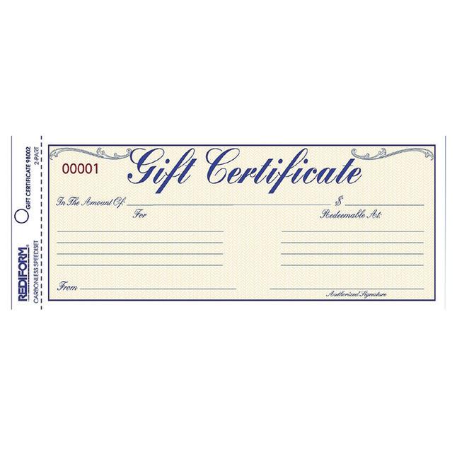 Gift Certificates, Item Number 1066755