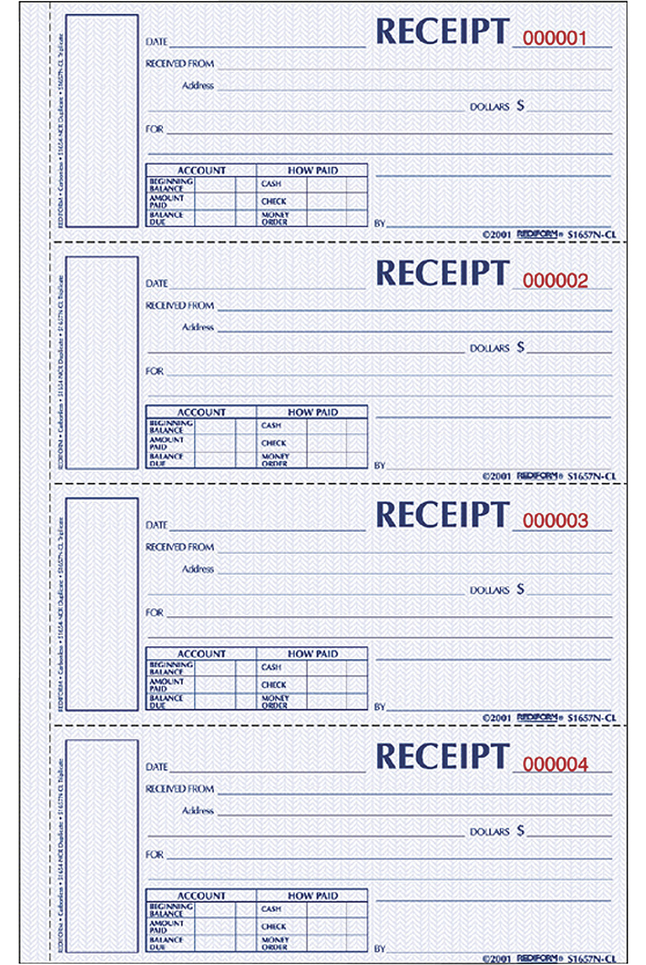 Receipts and Invoices and Statement Forms, Item Number 1066761