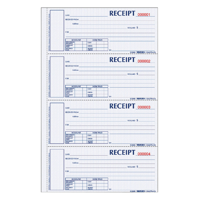 Receipts and Invoices and Statement Forms, Item Number 1066762