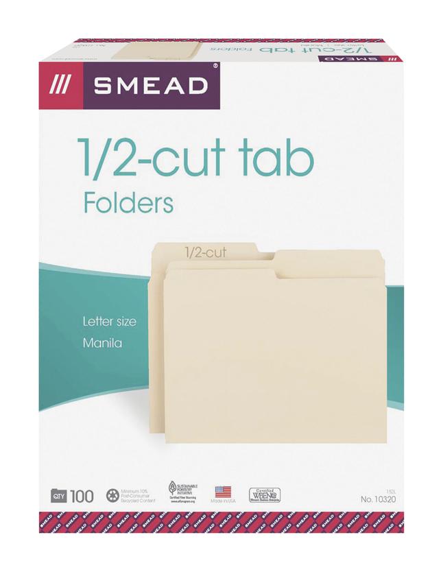 Top Tab File Folders, Item Number 1068546