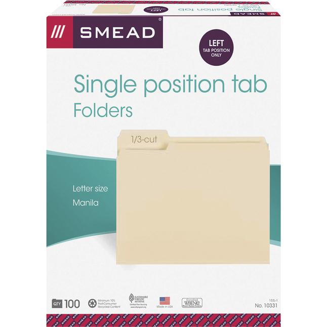 Top Tab File Folders, Item Number 1068549