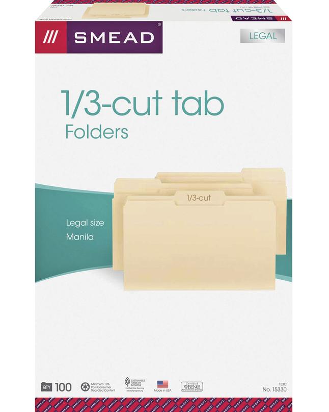 Top Tab File Folders, Item Number 1068667