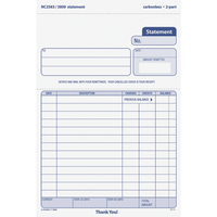 Receipts and Invoices and Statement Forms, Item Number 1070520