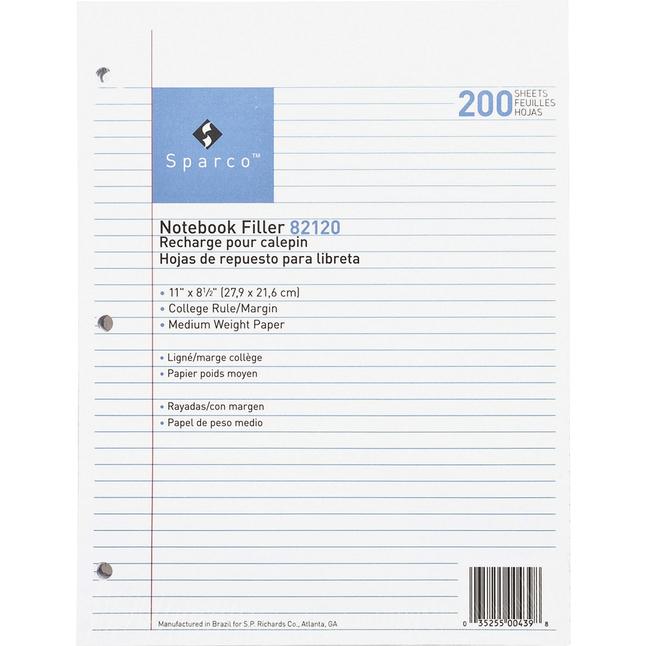 Notebooks, Loose Leaf Paper, Filler Paper, Item Number 1071375