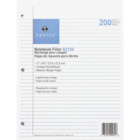 Notebooks, Loose Leaf Paper, Filler Paper, Item Number 1071375