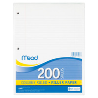 Notebooks, Loose Leaf Paper, Filler Paper, Item Number 1076707