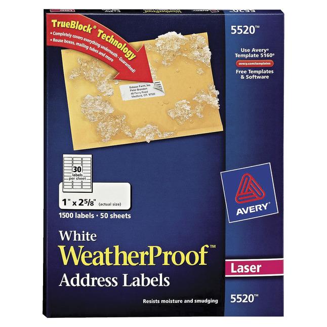 Address Labels, Item Number 1080066