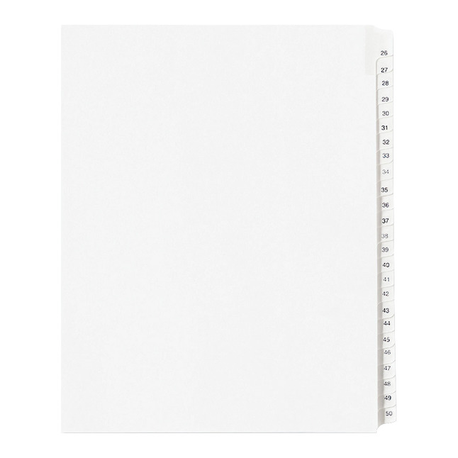 Index Dividers, Item Number 1092771
