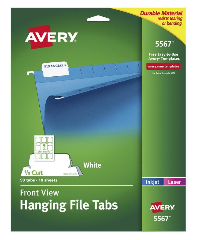 File Tabs, Item Number 1098408