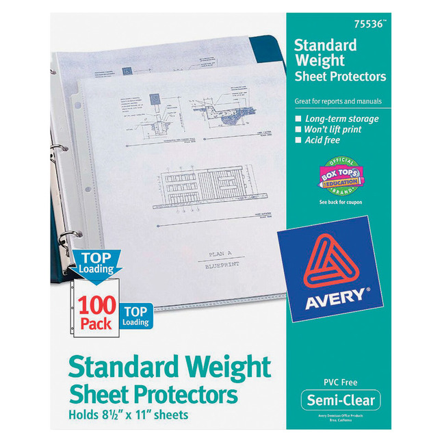 Sheet Protectors, Item Number 1098413