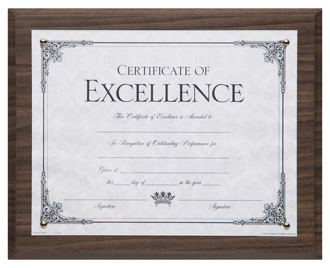 Award Plaques and Certificate Frames, Item Number 1099029
