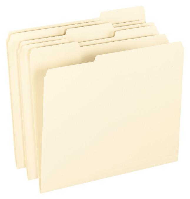 Top Tab File Folders, Item Number 1109684