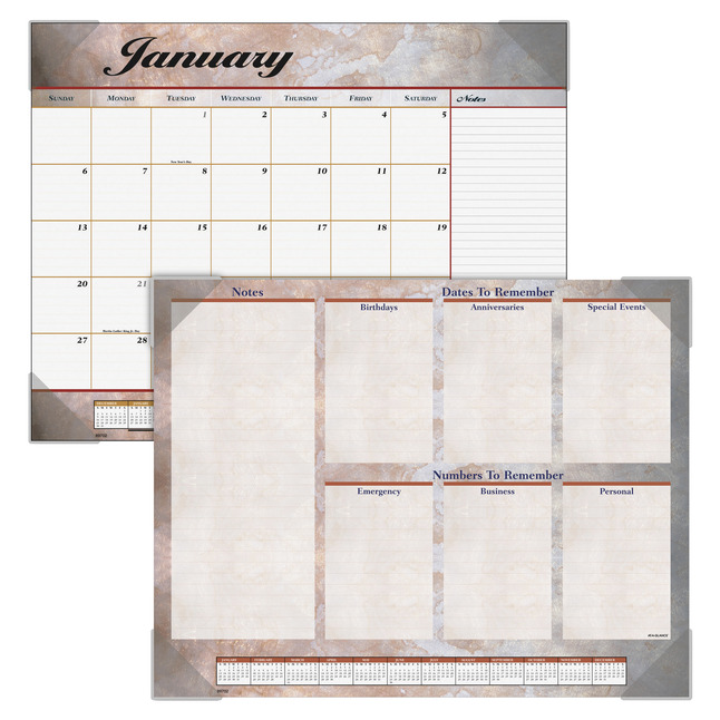 Daily Planner and Calendars, Item Number 1116044
