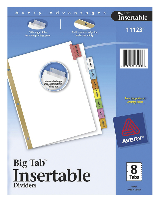 Tab Dividers, Item Number 1118113