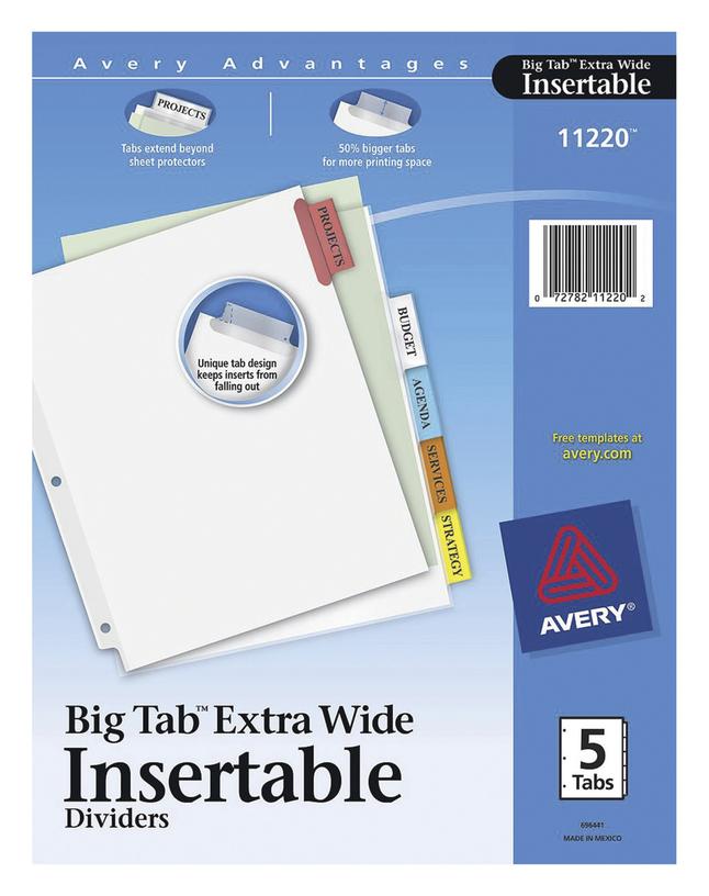 Tab Dividers, Item Number 1118136