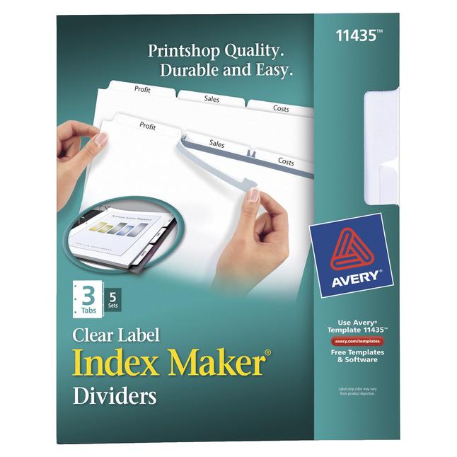 Tab Dividers, Item Number 1118162