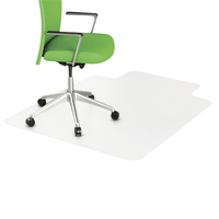 Image for Deflecto DuraMat Chair Mat w/Lip, For Low Pile Carpets, 45 x 53 Inches, Beveled Edge from School Specialty