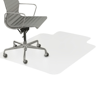 Image for Deflecto Supermat Chair Mat w/Lip, For Medium Pile Carpets, 45 x 53 Inches, Beveled Edge from School Specialty