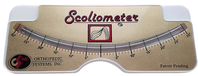 Image for Scoliometer with storage pouch from School Specialty