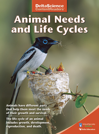Image for Delta Science Content Readers Animal Needs and Life Cycles Red Book, Pack of 8 from School Specialty
