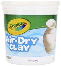 Crayola Air-Dry Easy-to-Use Durable Non-Toxic Self-Hardening Modeling Clay, 5 lb Bucket, White Item Number 1280534