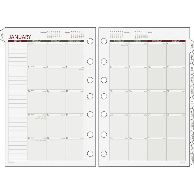 Planner Refills and Calendar Refills, Item Number 1282203