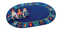 Carpets For Kids A to Z Animals Rug, 8 Feet 3 Inches x 11 Feet 8 Inches, Oval Item Number 1285592