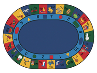 Carpets For Kids Blocks of Fun Rug, 8 Feet 3 Inches x 11 Feet 8 Inches, Oval Item Number 1285594