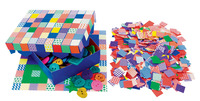 Roylco Petite Square Mosaic Tile Paper, 3/4 x 3/4 Inches, Pack of 2000 Item Number 1289189