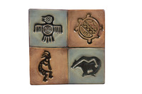 Mayco Clay Native American Design Press Tool Set, 1-3/4 in Dia, Set of 4 Item Number 1289971