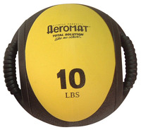 Image for Sportime 10 lb Dual Grip Power Medicine Ball, Yellow/Black from SSIB2BStore