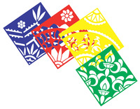Roylco Classic Rangoli Mega Stencil, 11 x 11 Inches, Set of 4 Item Number 1293911