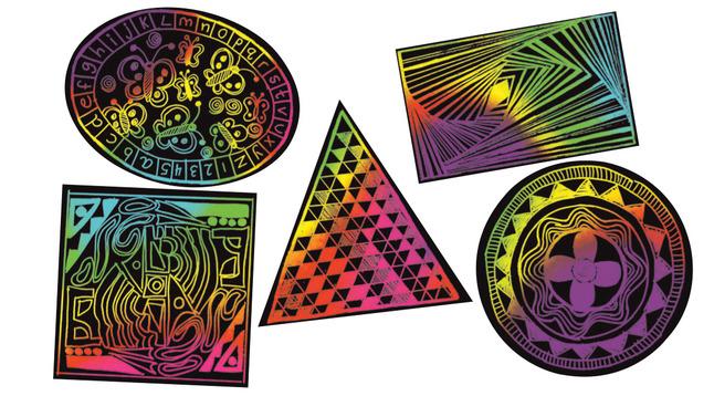 Scratch Art Paper, Scratch Art Boards, Item Number 1295205