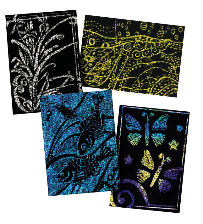 Scratch Art Paper, Scratch Art Boards, Scratch Art Sheets Supplies, Item Number 1296505