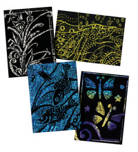 Scratch Art Paper, Scratch Art Boards, Scratch Art Sheets Supplies, Item Number 1296506