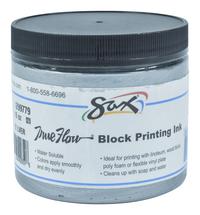 Sax True Flow Water Soluble Block Printing Ink, 1 Pint Jar, Silver Item Number 1299779