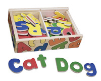 Melissa & Doug Magnetic Wooden Alphabet Set, 52 Pieces Item Number 1301197